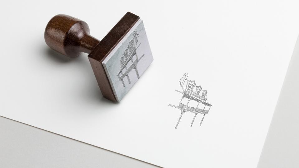 Illustration de la maison — Tampon