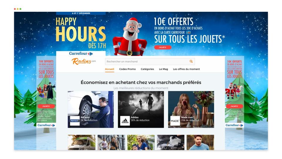 Habillage Carrefour