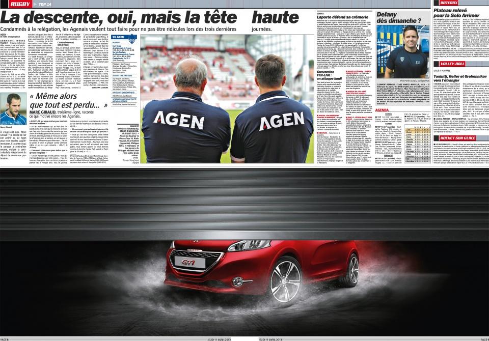 Peugeot dans l'Équipe
