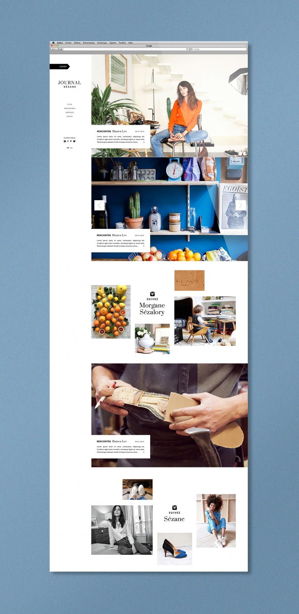 """D.A PHOTO & WEB DESIGN DES PAGES DU """"JOURNAL SÉZANE"""""""