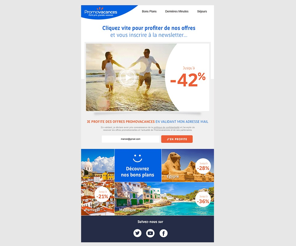 Emailing Promovacances