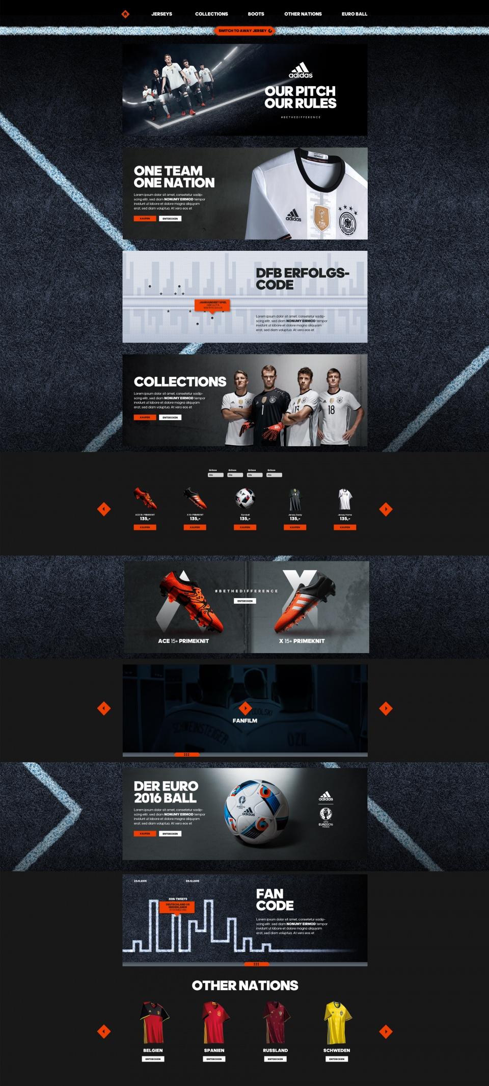 Maquette du site DFB