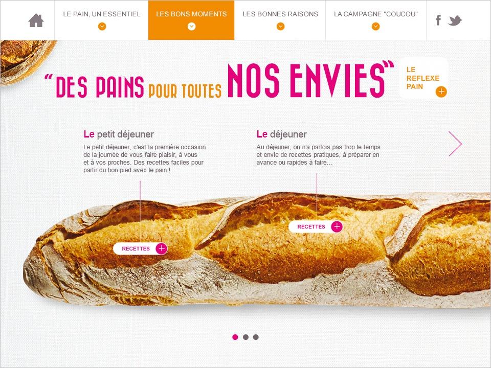 Mini-site pour promouvoir le pain et ses bienfaits nutritionnels
