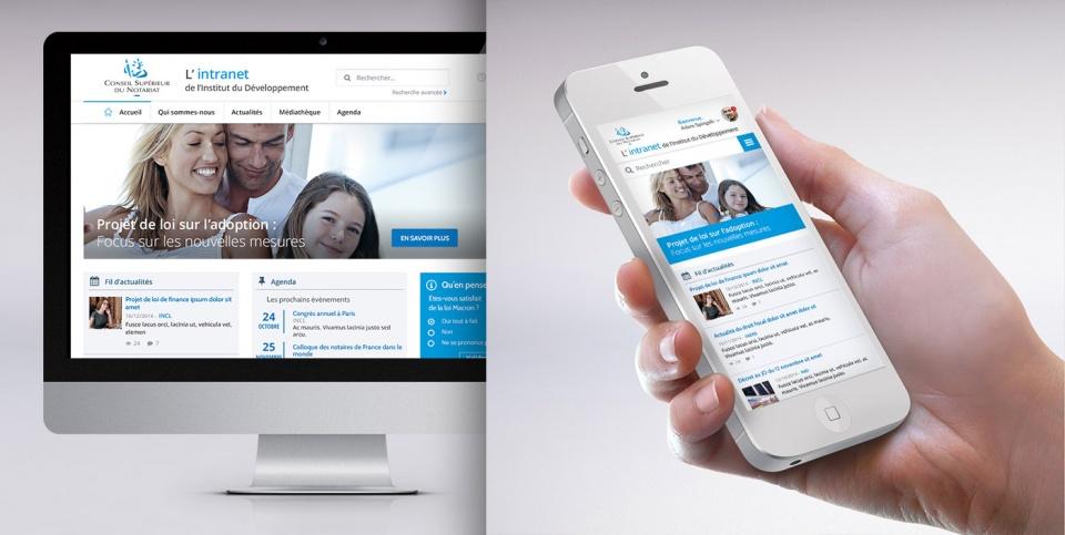 Présentation de l'interface et du gabarit mobile