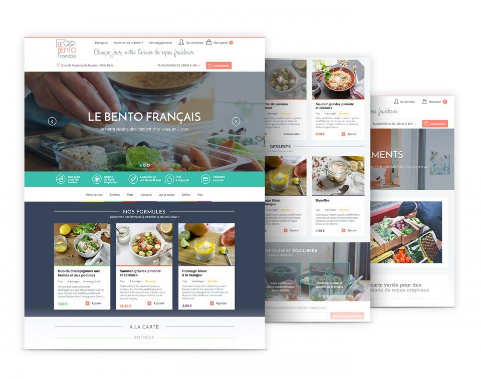 Le Bento Français - gabarits e-commerce des pages intérieures