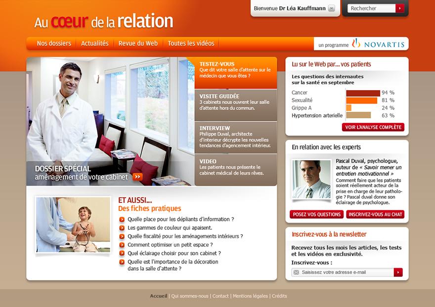 Novartis : homepage (proposition graphique)