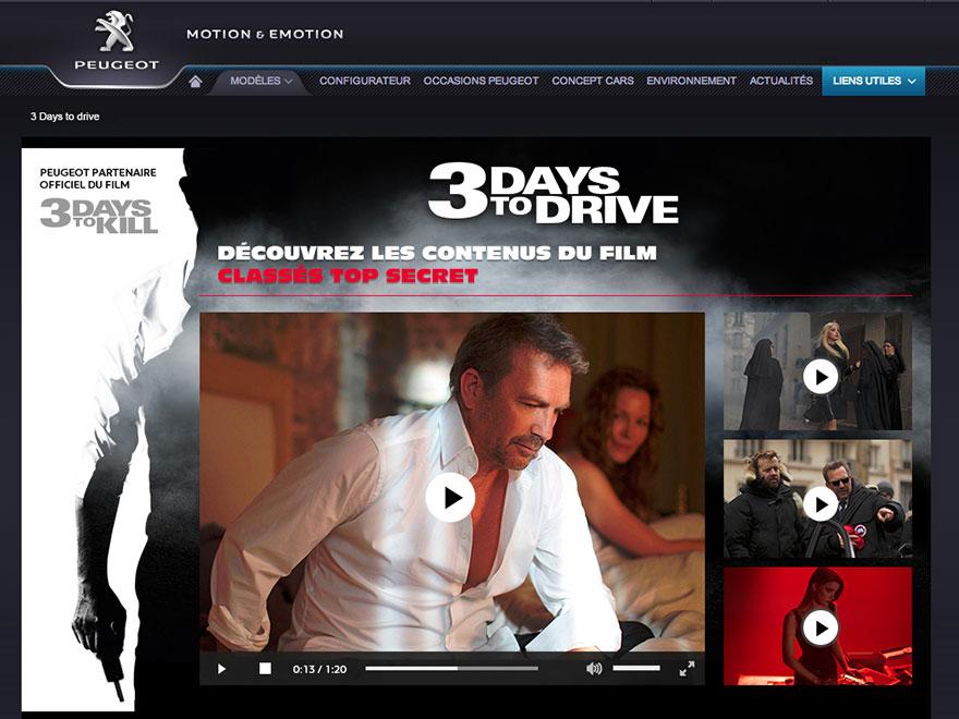 3 Days to Kill : page facebook / vidéos