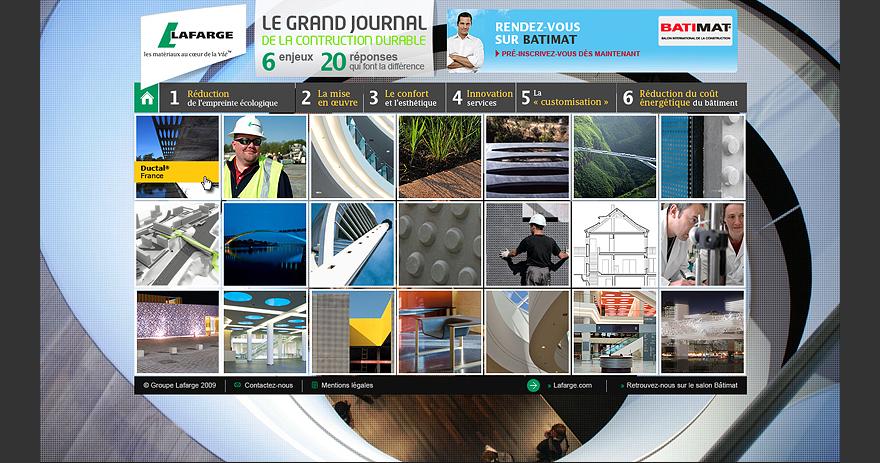 Site internet évènementiel du constructeur Lafarge