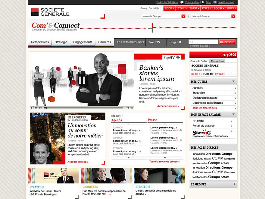 Com & Connect : l'intranet du groupe Société Générale (proposition)