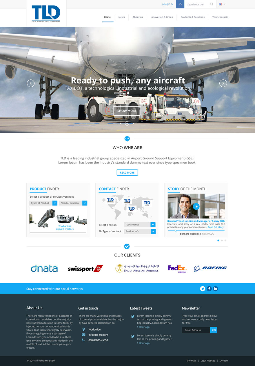 TLD : homepage (proposition graphique)