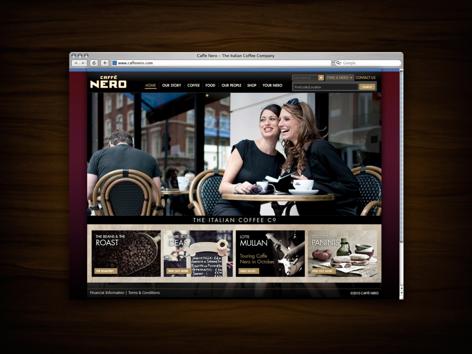 Caffe Nero Homepage 1