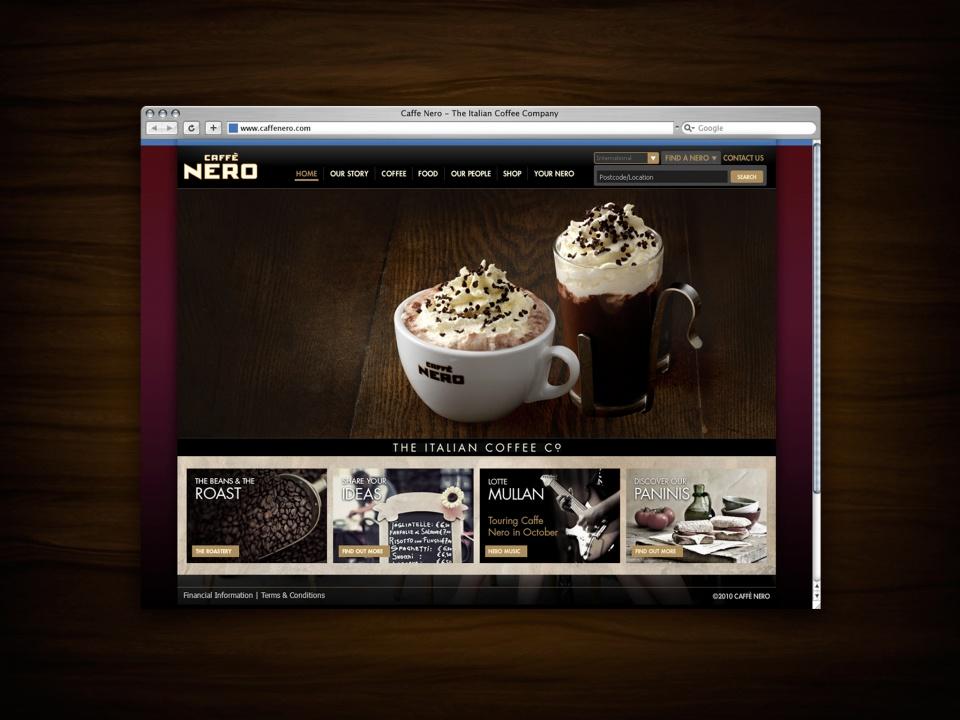 Caffe Nero Homepage 2