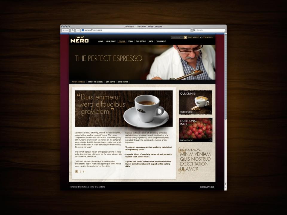 Caffe Nero subpage 1