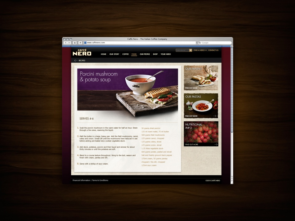 Caffe Nero subpage 2