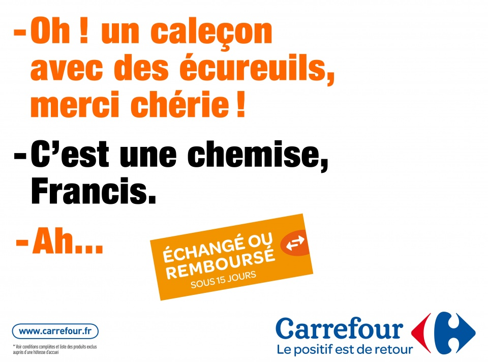Carrefour - échange