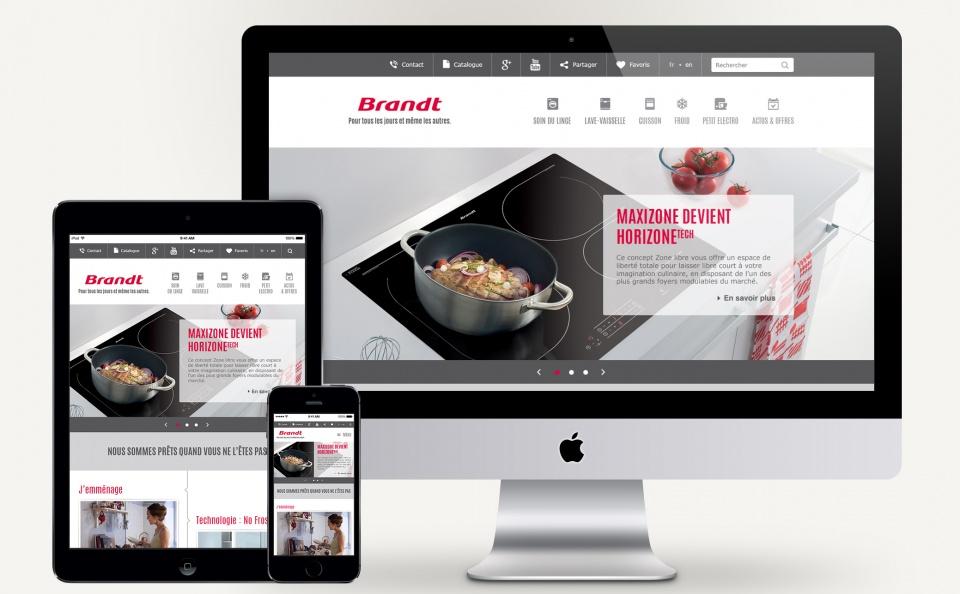 Refonte du site Brandt - Responsive design