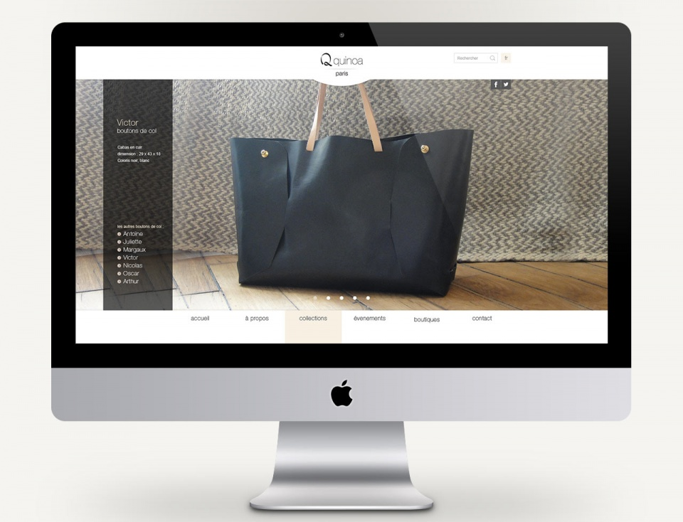 Page de présentation d'un produit
