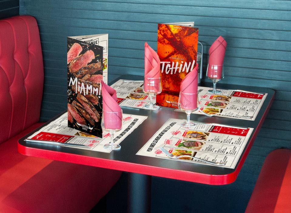 Table en restaurant