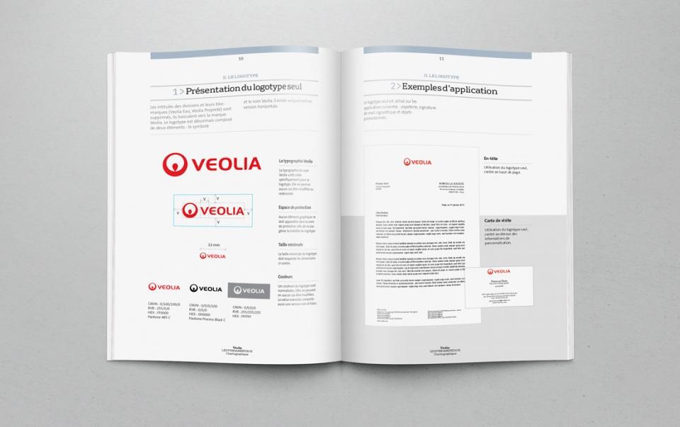 Nouvelle charte graphique Veolia