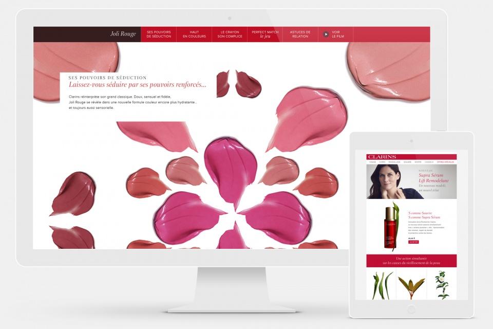 Webdesign Clarins