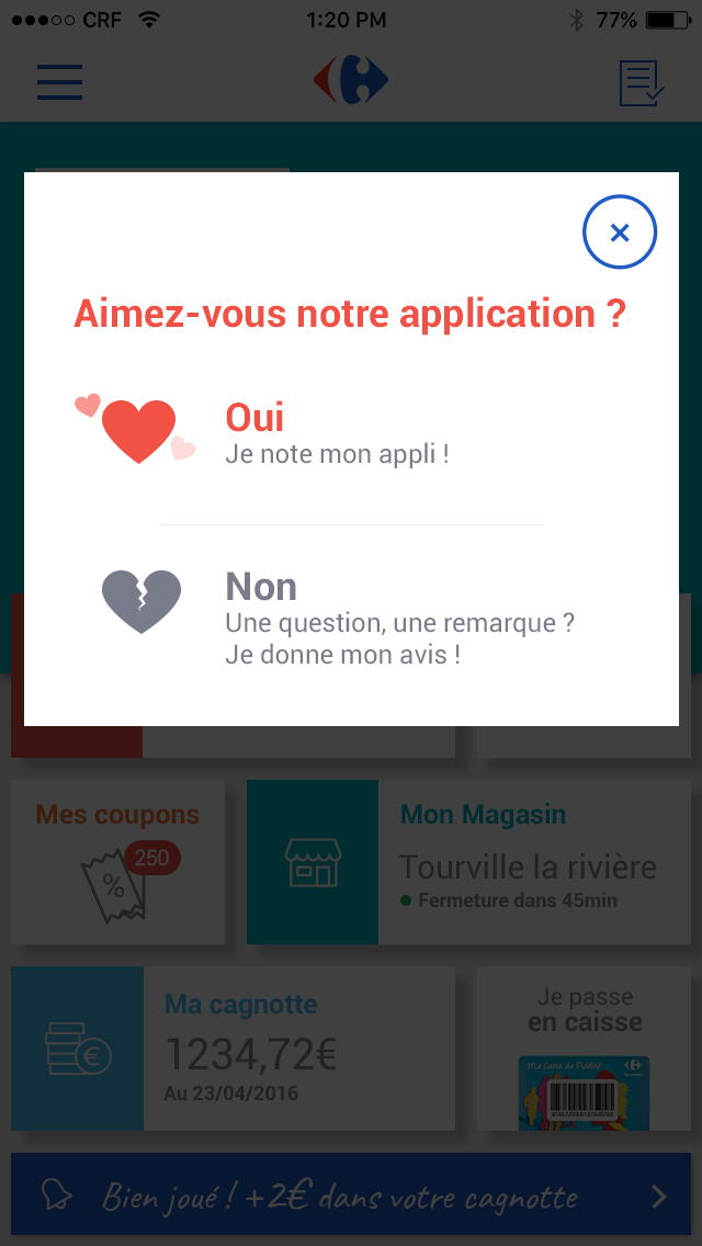 Application Carrefour