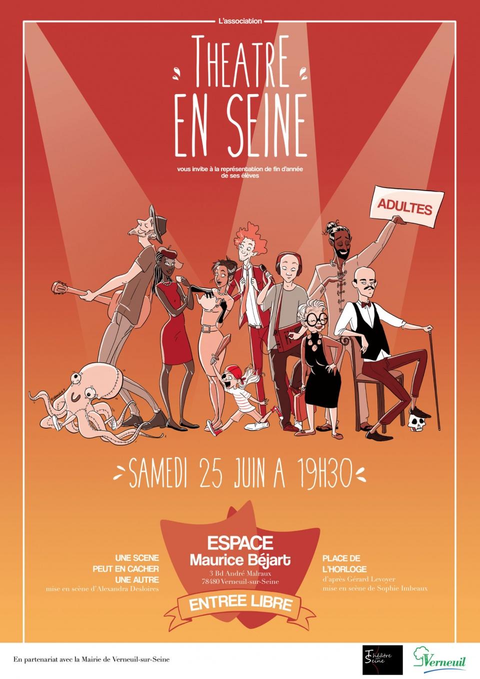 Affiche 2016 - Association Théâtre En Seine