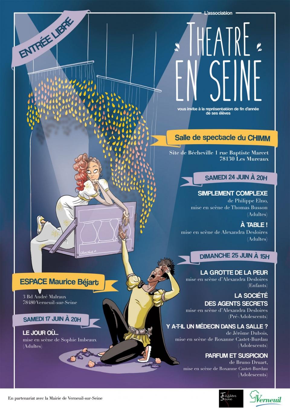 Affiche 2017 - Association Théâtre En Seine