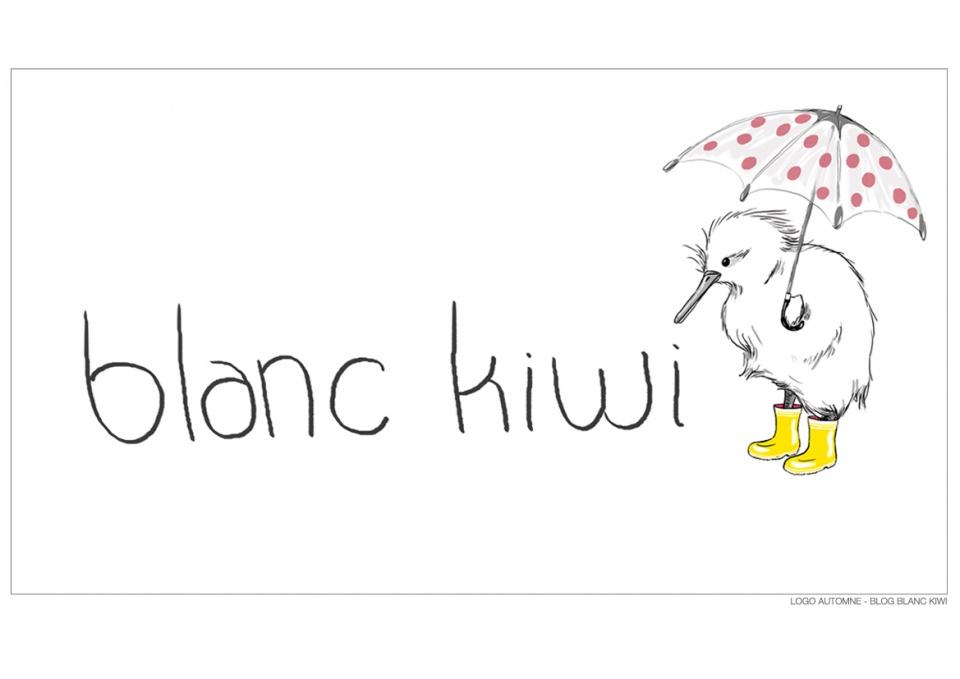 Logo Automne - Projet BLANC KIWI (Blog Mode)