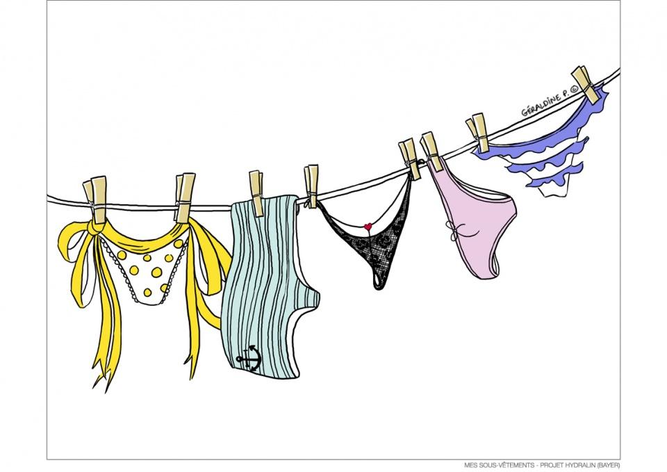 Mes sous-vêtements - Projet Hydralin (BAYER)