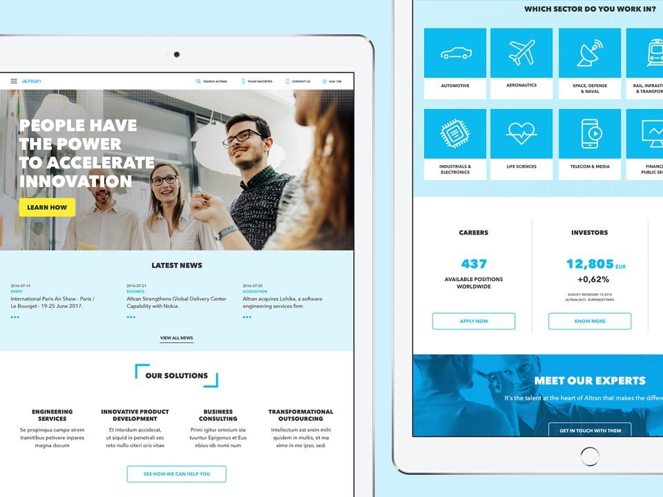 Altran homepage