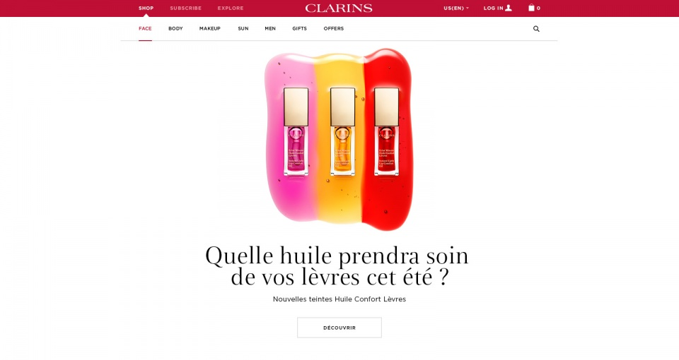 Push site Clarins V3