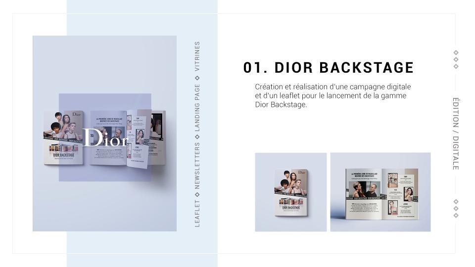 Dior Backstage 1
