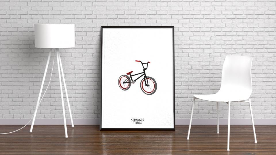 Affiche vélo Dustin