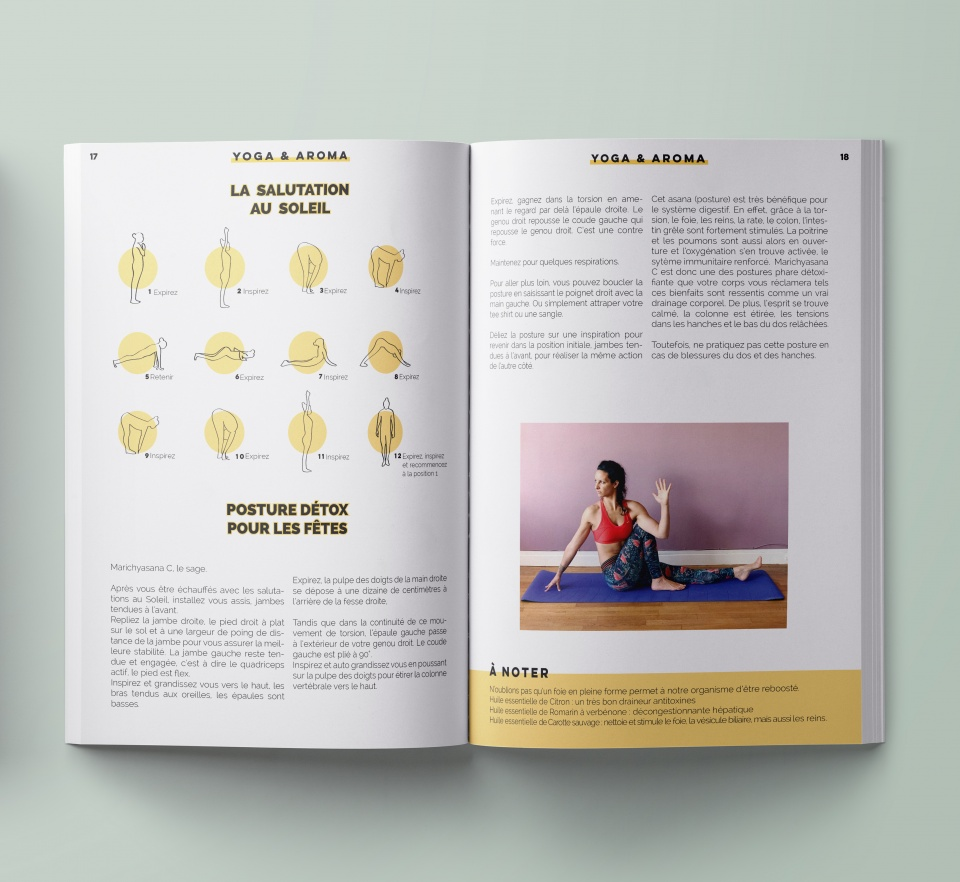Yoga & aroma du magazine #LET'S PLAY on the moon MAG