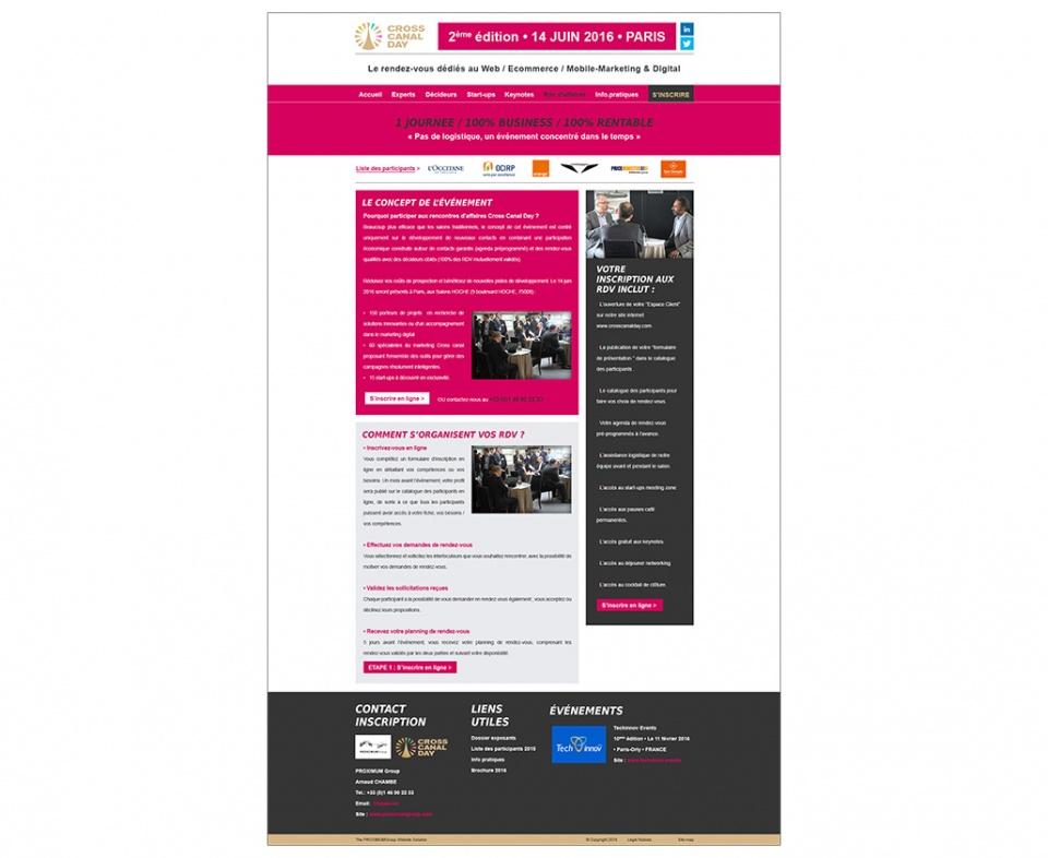 """Design page """"Rendez-vous d'affaires"""""""