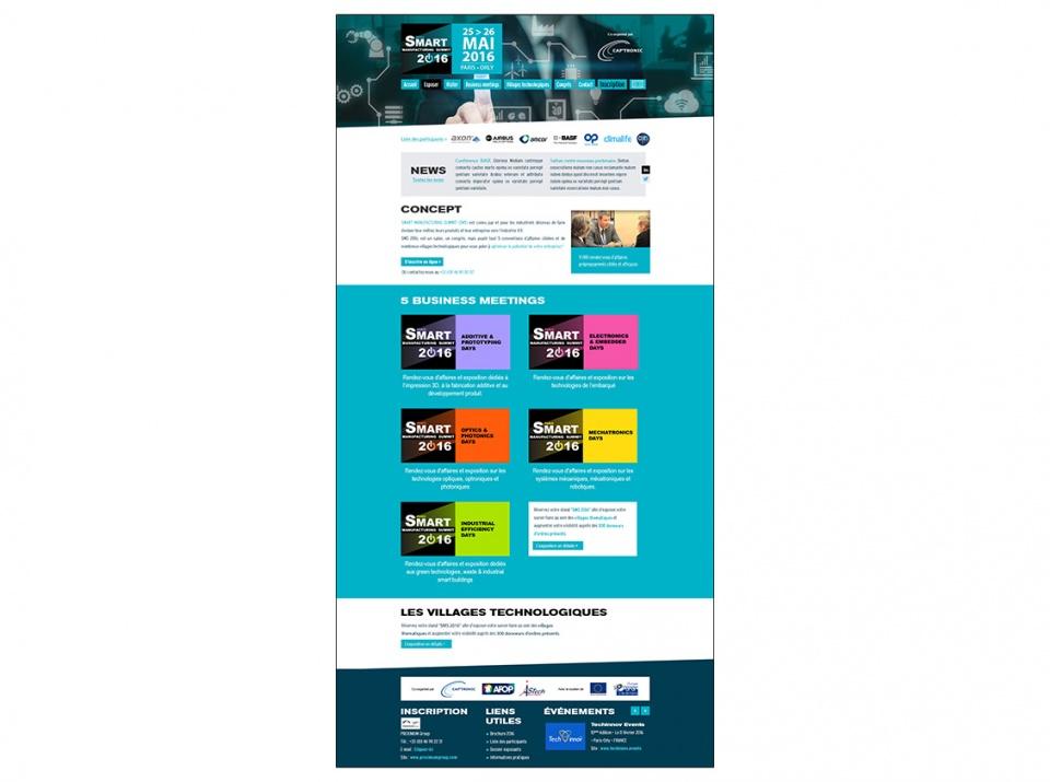 Design de la Homepage