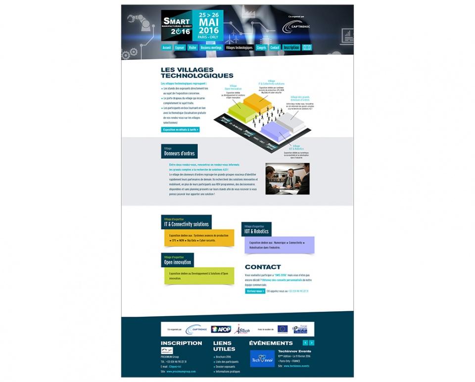"""Design de la page """"Villages thématiques"""""""