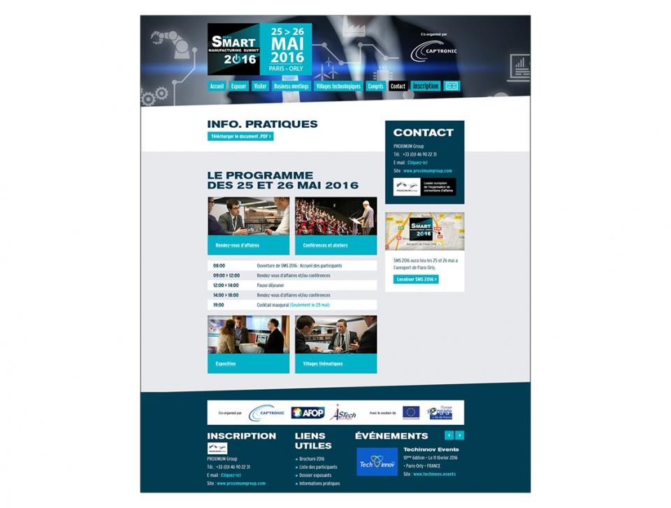 """Design de la page """"Informations pratiques"""""""