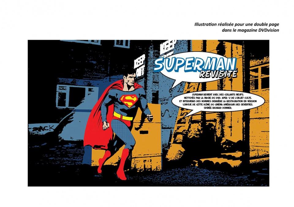 """Ouverture pour le dossier """"Superman"""" du magazine DVDvision"""