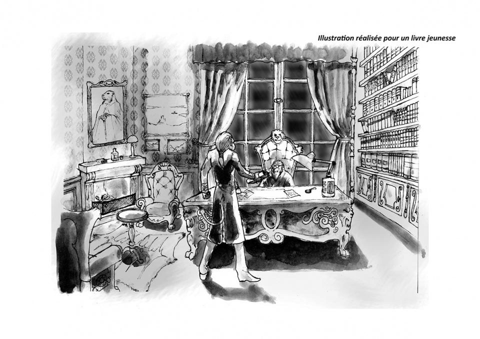 Illustration pour un projet de livre