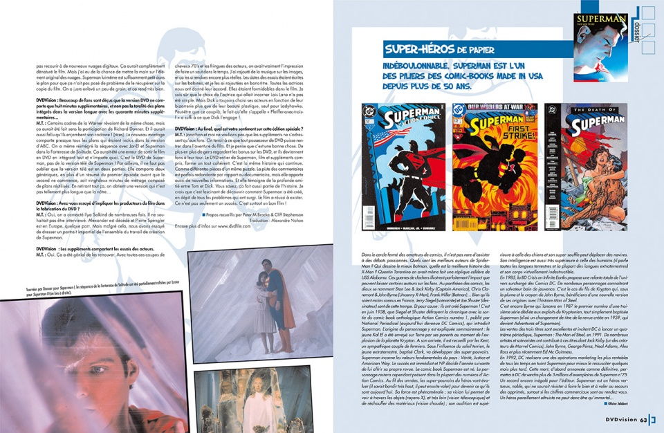 "Dossier ""Superman"" - double page 3"