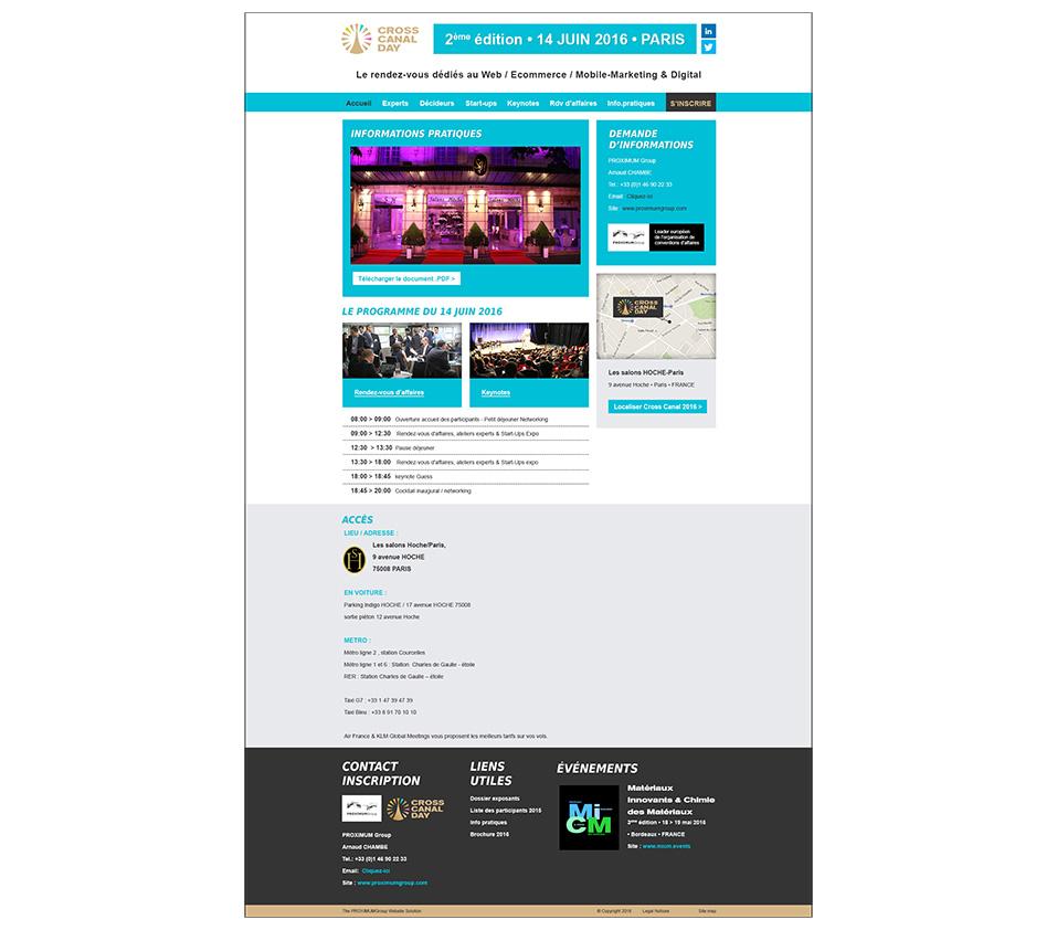 """Design page """"Infos pratiques"""""""