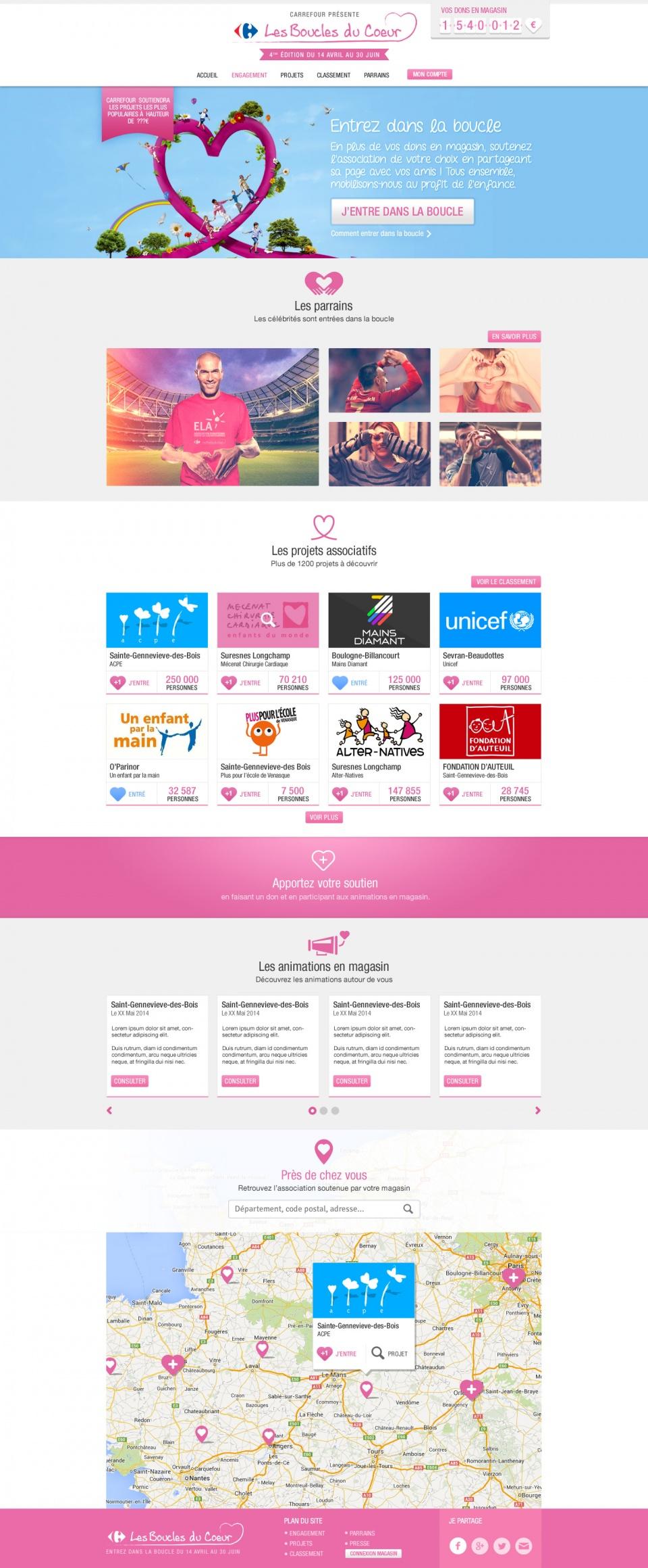 """Site web """"Les Boucles du Coeur"""""""