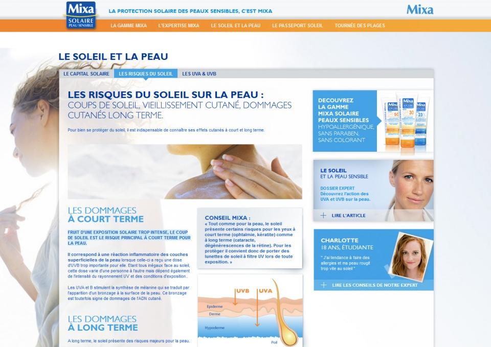 Mixa - Site web