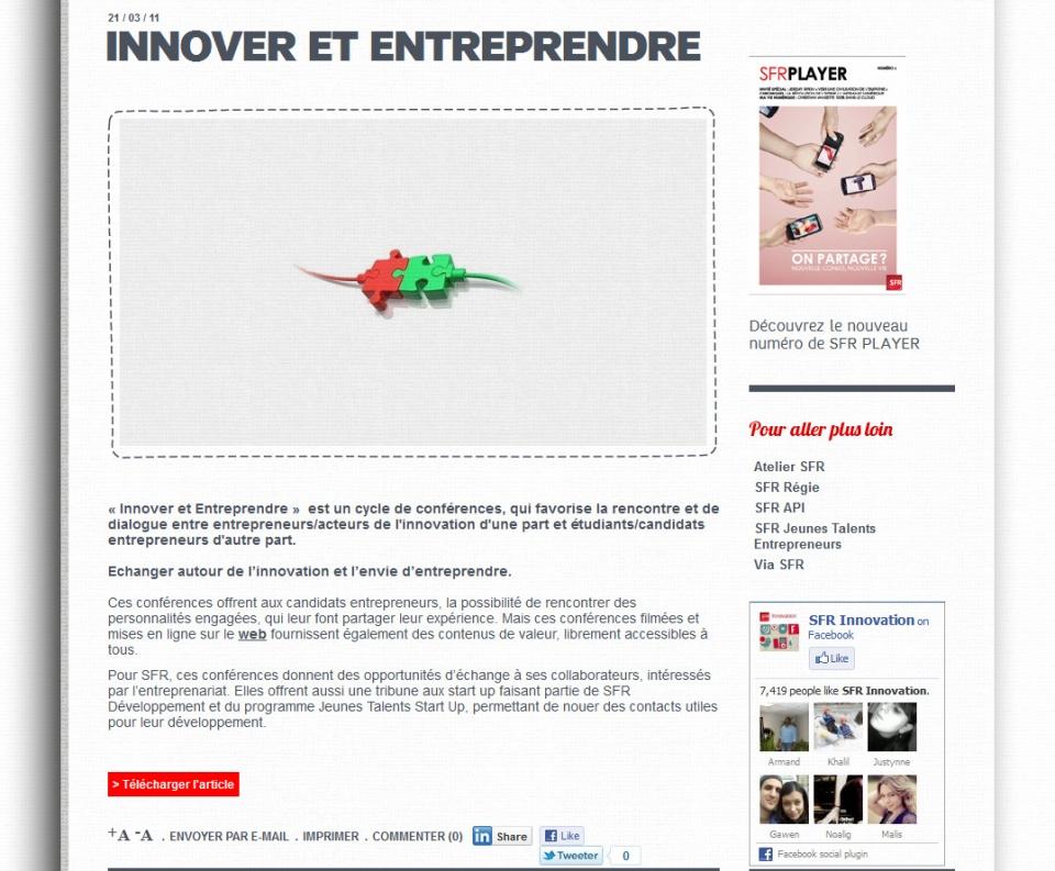 Site web SFR
