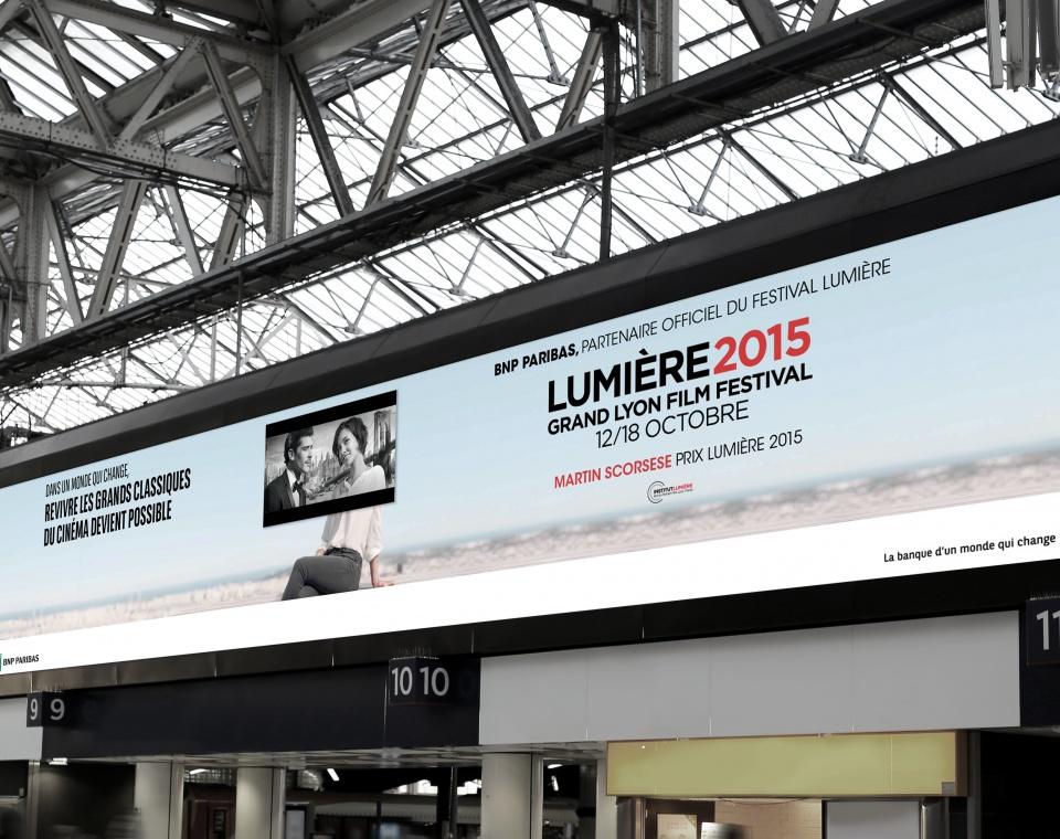 Bache BNP PARIBAS pour le festival Lumière 2015