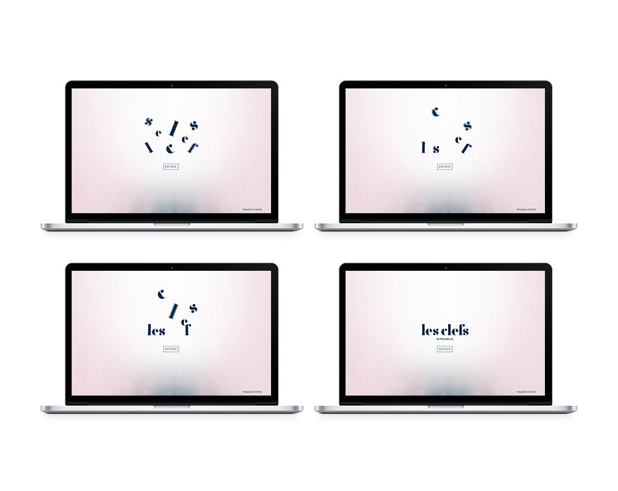 Animation à l'entrée du site web