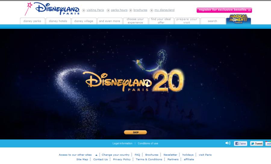 Disneyland Paris 20éme anniversaire
