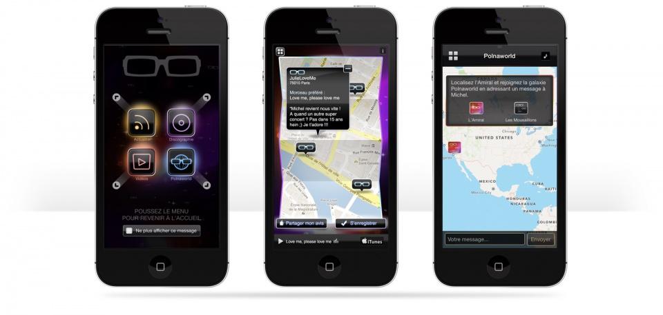 Ecran de l'App