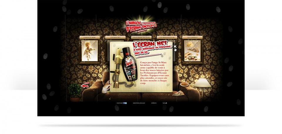 Ecran du site